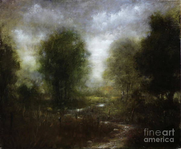 Wall Art - Painting - Pasture Stream No.3 by Lawrence Preston