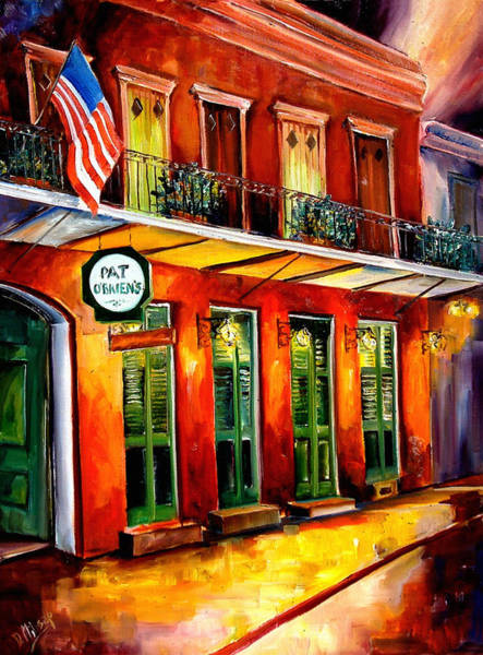 Wall Art - Painting - Pat O Briens Bar by Diane Millsap