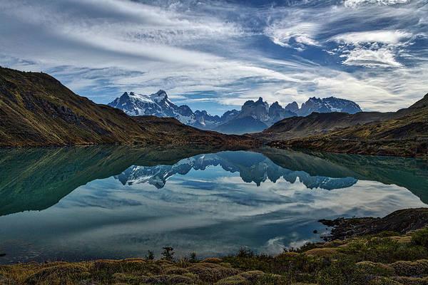 Patagonia Lake Reflection - Chile Art Print