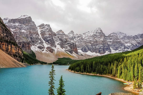 Aspect Wall Art - Photograph - Patch Of Sunlight At Lake Moraine by Daniela Constantinescu
