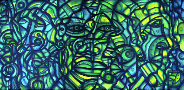 Painting - Patches Of Me 2012a001 by Lino Vicente