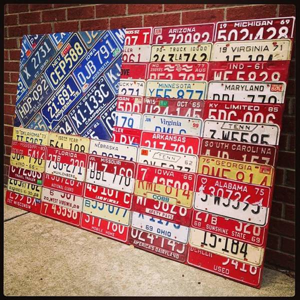 Landmark Wall Art - Photograph - Patchwork #american #flag Finished - by Design Turnpike
