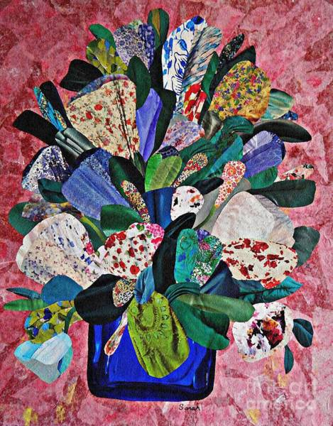 Bright Flowers Mixed Media - Patchwork Bouquet by Sarah Loft