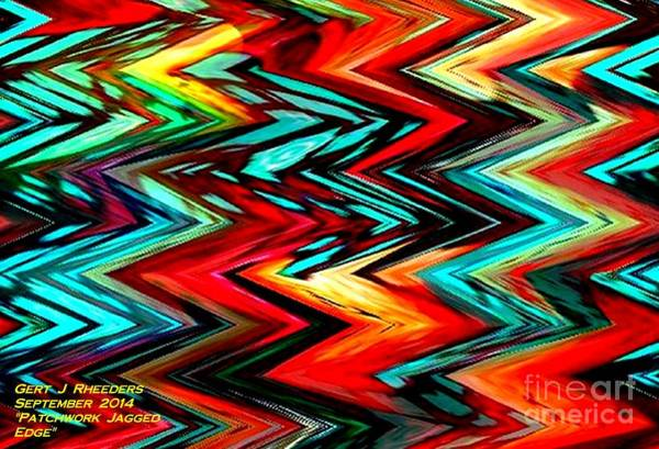 Special Offer Painting - Patchwork Jagged Edge. H A by Gert J Rheeders