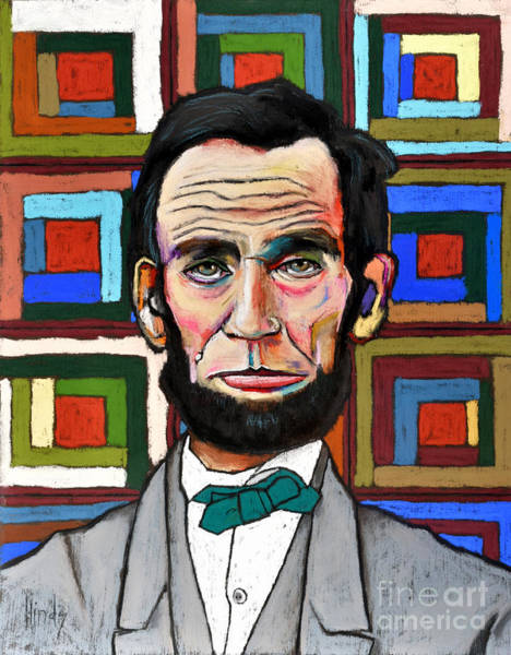 Pastel Drawing Painting - Patchwork Lincoln by David Hinds