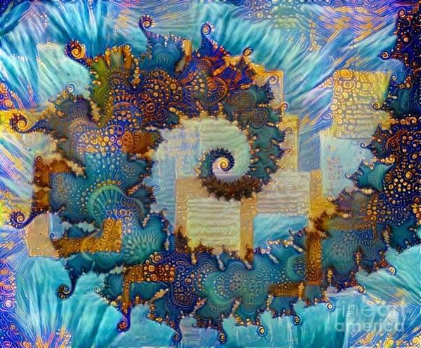 Digital Art - Patchwork Spiral by Amanda Moore