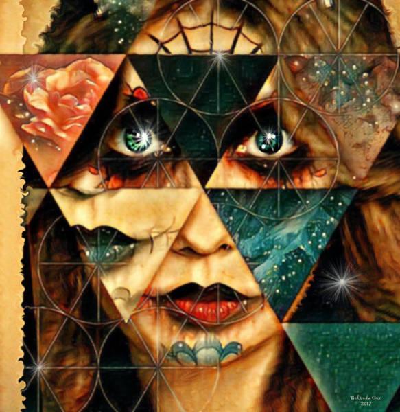 Digital Art - Patchwork Zombie Lady by Artful Oasis
