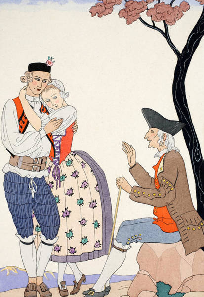 Barbier Painting - Paternal Blessing  by Georges Barbier