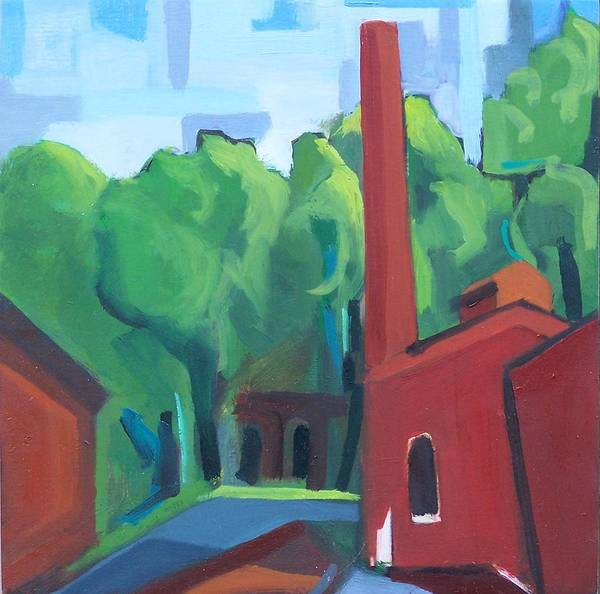 Painting - Paterson Mill by Ron Erickson