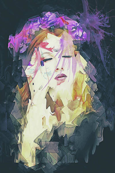 Digital Art - Path Abstract Portrait by Galen Valle