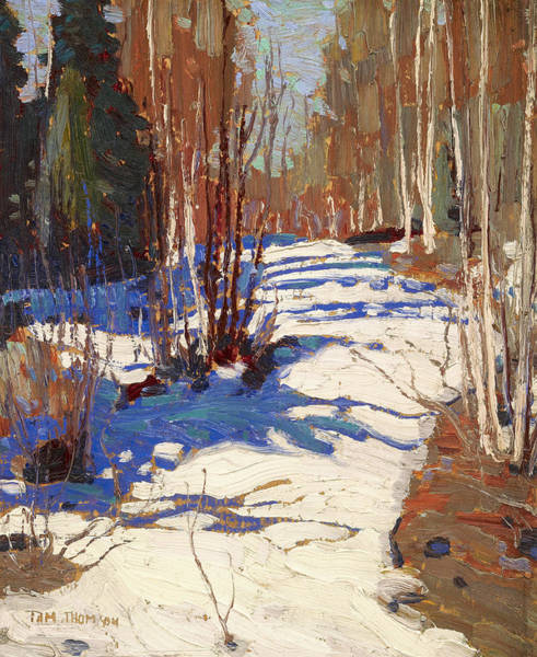 Wall Art - Painting - Path Behind Mowat Lodge by Tom Thomson