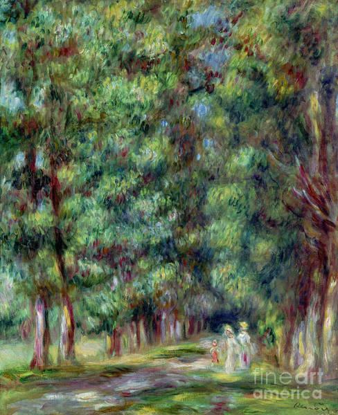 Wall Art - Painting - Path In A Wood by Pierre Auguste Renoir