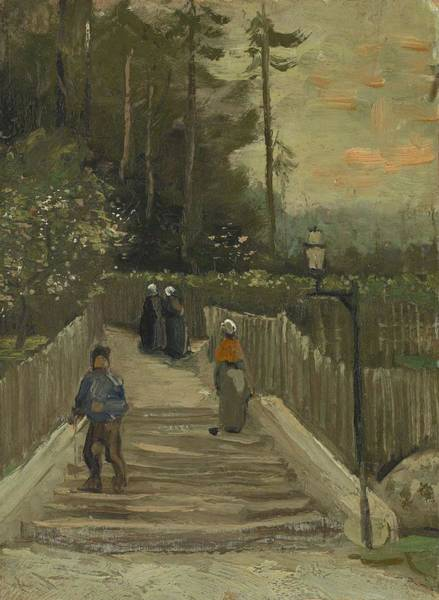 Painting - Path In Montmartre by Artistic Panda