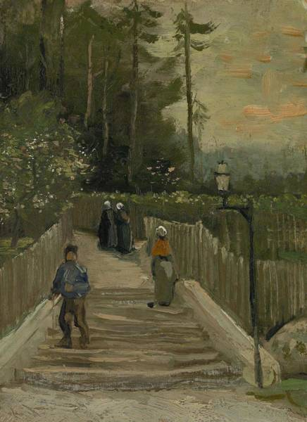 Painting - Path In Montmartre Paris  April - May 1886 Vincent Van Gogh 1853  1890 by Artistic Panda