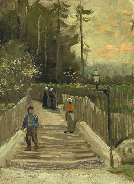 Narrow Street Painting - Path In Montmartre by Vincent Van Gogh