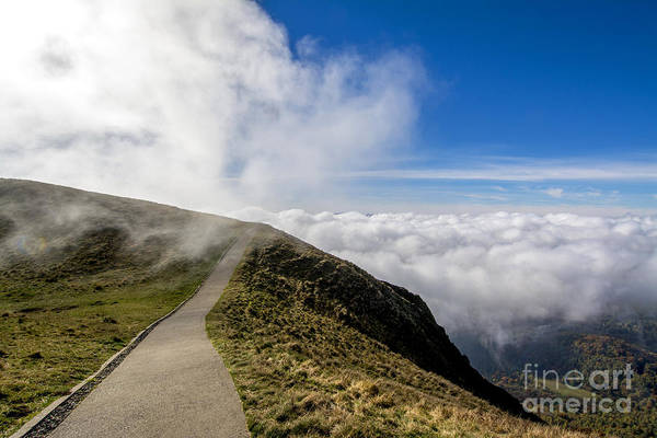 Wall Art - Photograph - Path In The Chain Of Volcanoes. France. Auvergne. Puy De Dome. by Bernard Jaubert