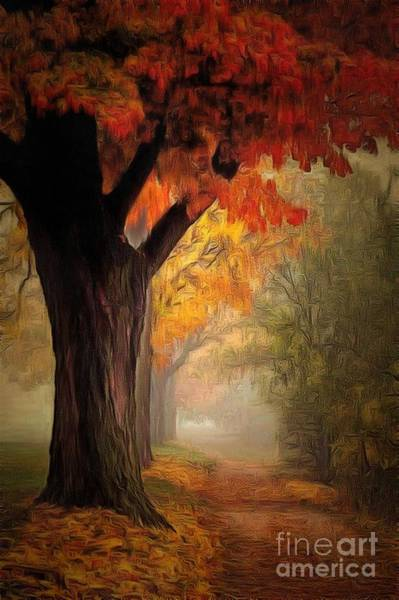 Painting - Path Lit In Ambiance by Catherine Lott