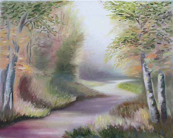 Painting - Path Through The Forest by Elena Antakova