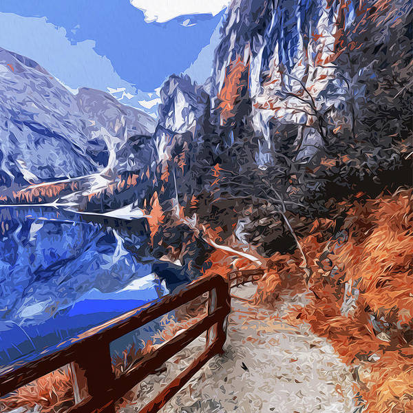 Painting - Path Through The Mountains by Andrea Mazzocchetti