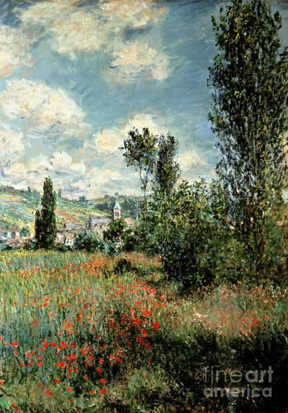 Hills Wall Art - Painting - Path Through The Poppies by Claude Monet
