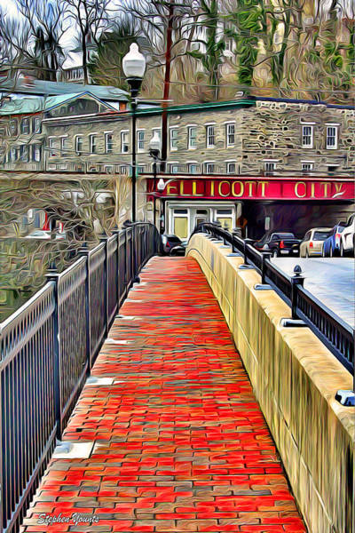 Wall Art - Digital Art - Path To Ellicott City by Stephen Younts
