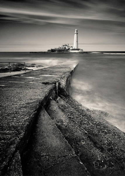 Wall Art - Photograph - Path To St Mary's Lighthouse by Dave Bowman