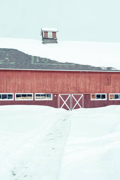 New England Barn Photograph - Path To To The Old Red Barn by Edward Fielding