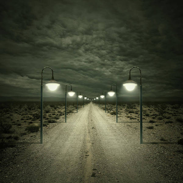 Lamp Wall Art - Digital Art - Path by Zoltan Toth