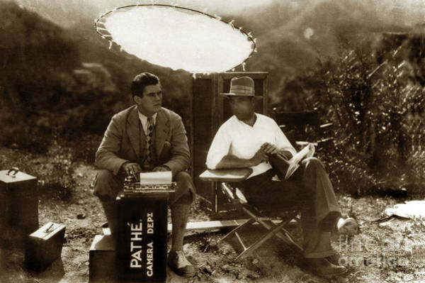 Photograph - Pathe Camera Dept. Circa 1920 by California Views Archives Mr Pat Hathaway Archives