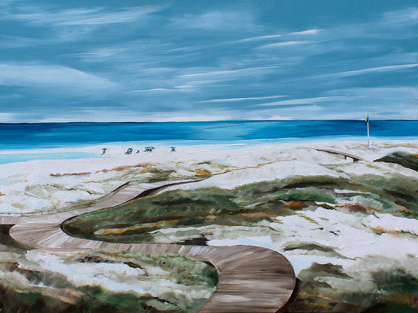 Sand Creek Painting - Pathway by Racquel Morgan