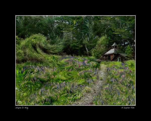 Photograph - Pathway To Lupine Poster by Wayne King