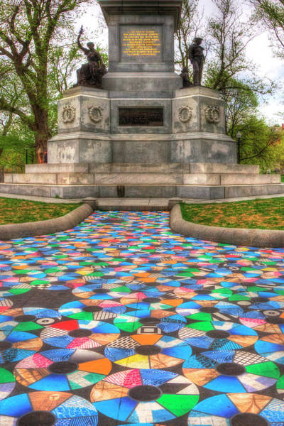 Photograph - Pathways To Freedom - Julie Vogl - Boston Common by Joann Vitali
