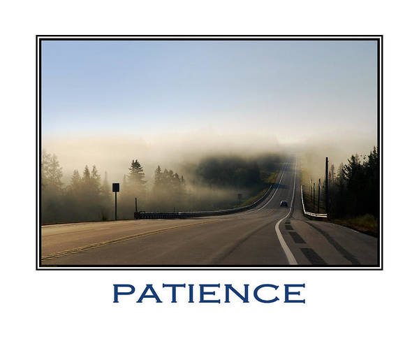 Mixed Media - Patience Inspirational Motivational Poster Art by Christina Rollo