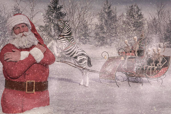 Wall Art - Digital Art - Patience Santa Patience by Betsy Knapp