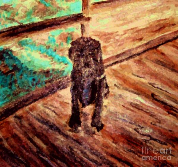 Painting - Patient Dog by Stanley Morganstein