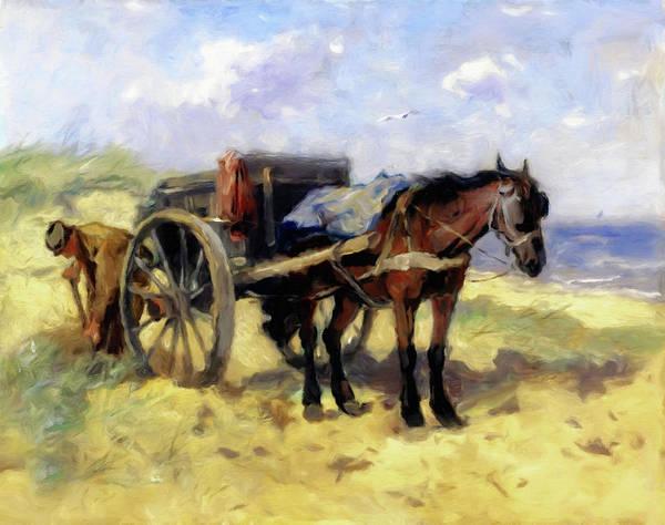 Dune Mixed Media - Patiently Waiting by Georgiana Romanovna