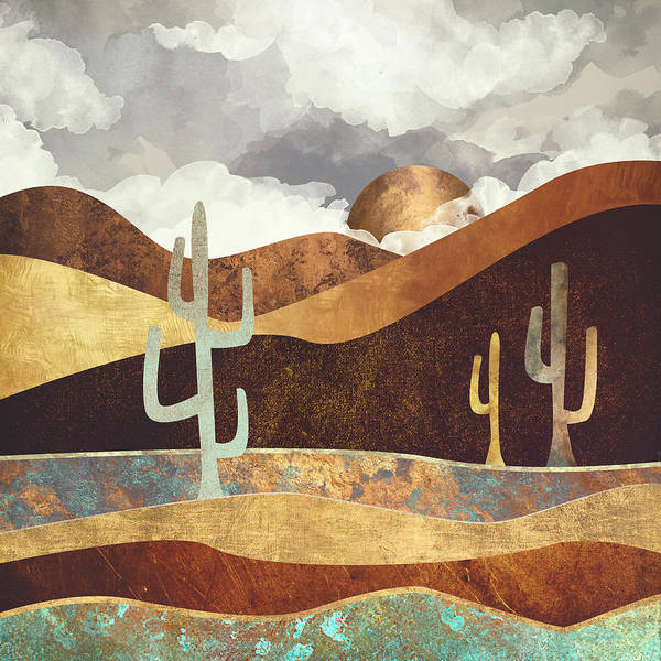 Patina Digital Art - Patina Desert by Spacefrog Designs