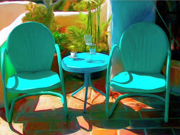 Chair Mixed Media - Patio Antics by Snake Jagger