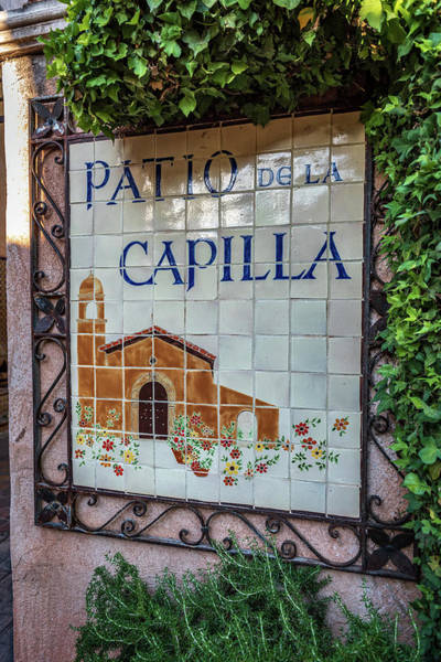 Wall Art - Photograph - Patio De La Capilla - Tlaquepaque - Sedona Arizona by Jon Berghoff