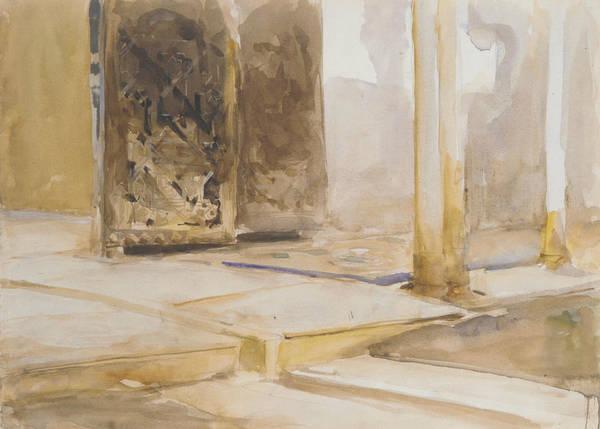 Drawing - Patio De Los Leones, Alhambra by John Singer Sargent