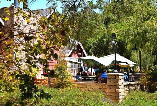 Photograph - Patio Dining Moonstone Marketplace by Barbara Snyder