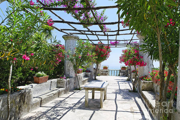 Wall Art - Photograph - Patio Garden In Ravello by George Oze