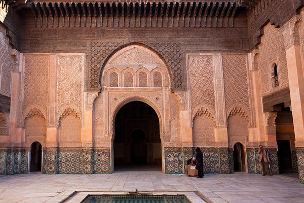 Photograph - Patio In Ben Youssef Madrasa by Aivar Mikko