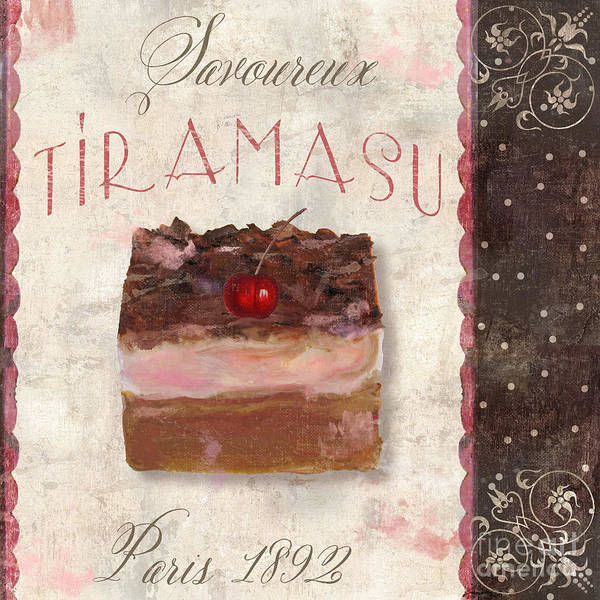 Cakes Painting - Patisserie Tiramasu  by Mindy Sommers