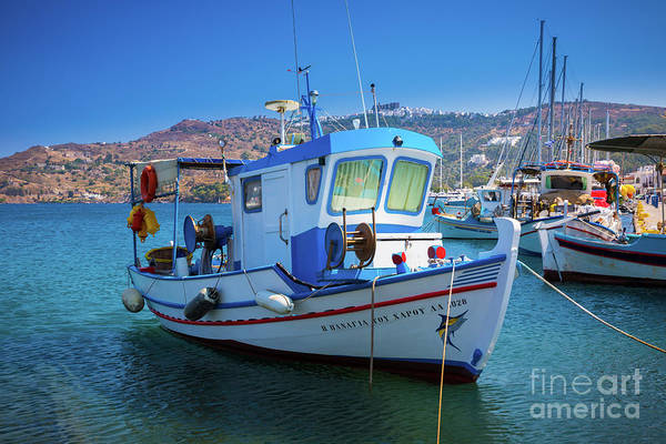 Wall Art - Photograph - Patmos Fishing Boat by Inge Johnsson