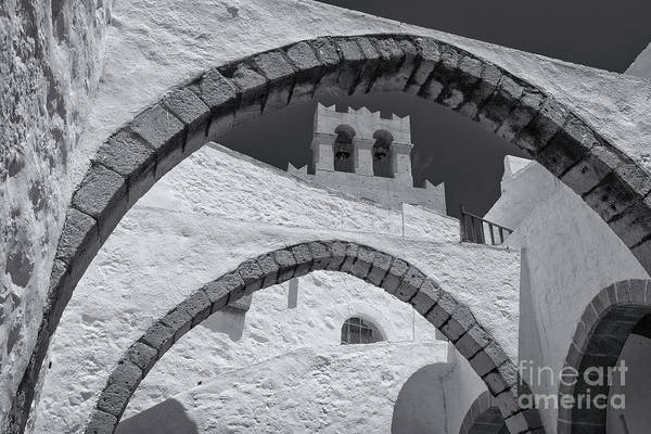 Wall Art - Photograph - Patmos Monastery Arches by Inge Johnsson