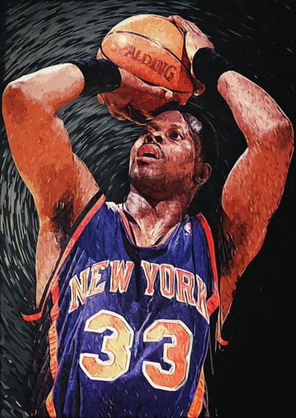 Sportsman Digital Art - Patrick Ewing by Zapista Zapista