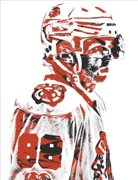 Wall Art - Mixed Media - Patrick Kane Chicago Blackhawks Pixel Art 3 by Joe Hamilton