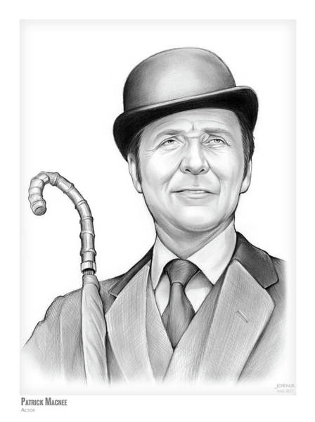 Wall Art - Drawing - Patrick Macnee by Greg Joens
