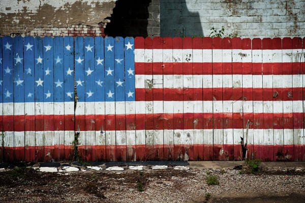 Photograph - Patriot Fence by Bud Simpson